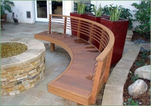 wood bench manhattan beach Franco's remodeling carpenter LA