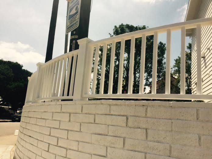 white fence LA